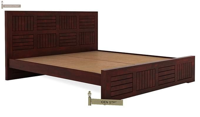 Claudia Bed Without Storage (King Size, Mahogany Finish)-4