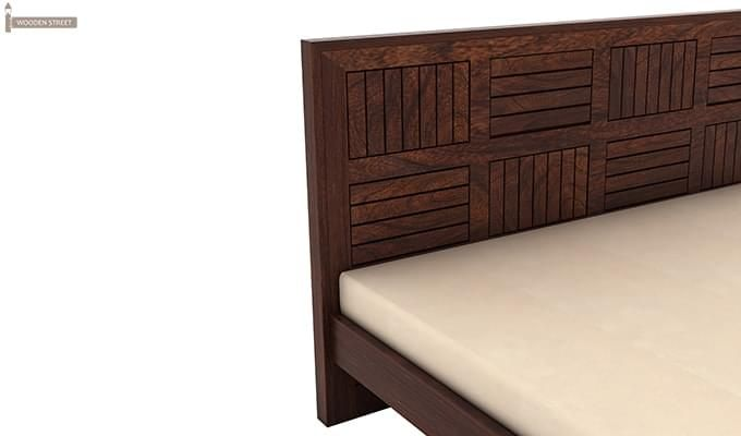 Claudia Bed Without Storage (Queen Size, Walnut Finish)-6