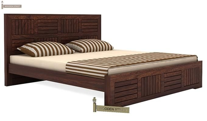 Claudia Bed Without Storage (Queen Size, Walnut Finish)-3