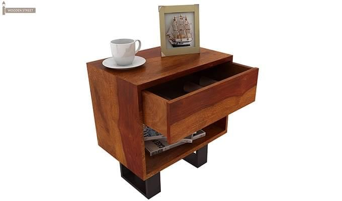 Curtiz Bedside Table (Honey Finish)-5