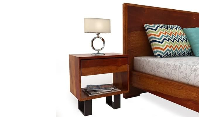 Curtiz Bedside Table (Honey Finish)-2