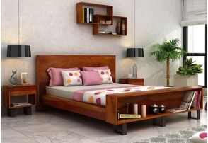 Double Beds Online Chandigarh, Solid Wood Queen Size Bed Designs