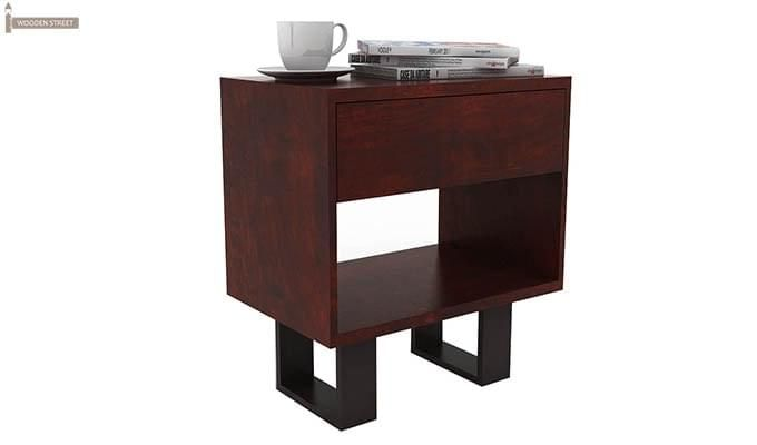 Curtiz Bedside Table (Mahogany Finish)-2