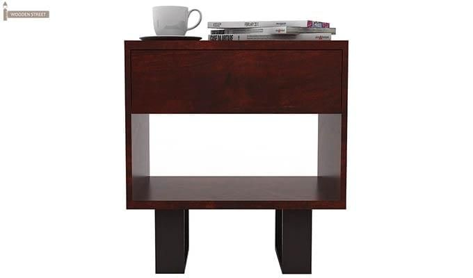 Curtiz Bedside Table (Mahogany Finish)-4