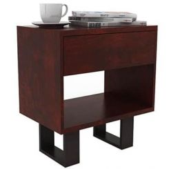 Curtiz Bedside Table (Mahogany Finish)