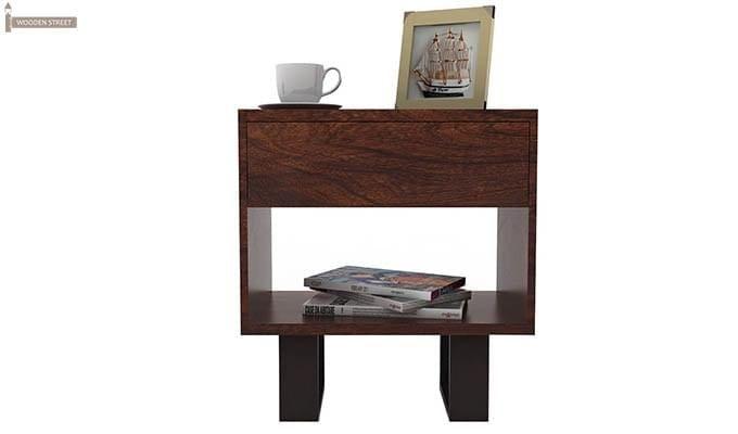 Curtiz Bedside Table (Walnut Finish)-2