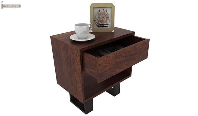 Curtiz Bedside Table (Walnut Finish)-4