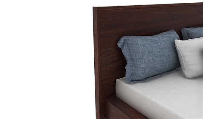 Curtiz Bed Without Storage (Queen Size, Walnut Finish)-5