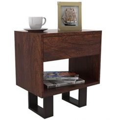 Curtiz Bedside Table (Walnut Finish)
