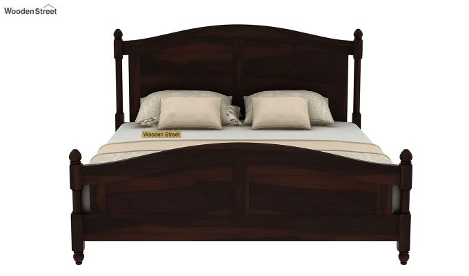 Dela Bed Without Storage (King Size, Walnut Finish)-5