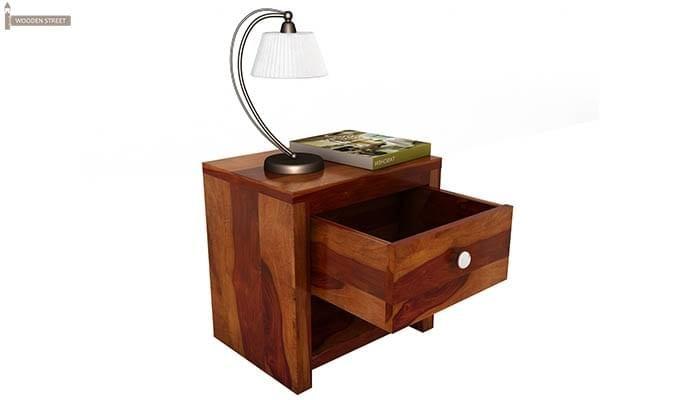 Denzel Bedside Table (Honey Finish)-2