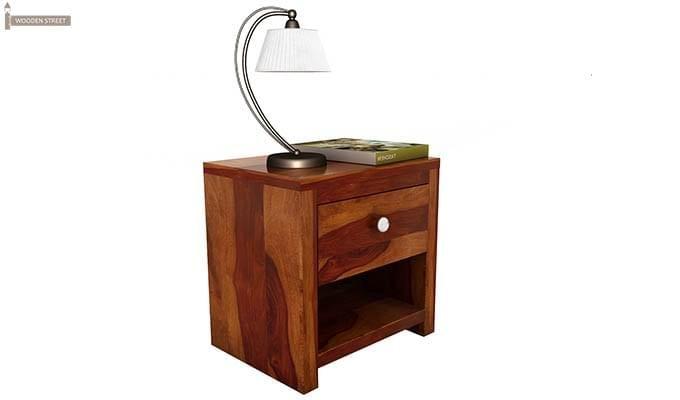 Denzel Bedside Table (Honey Finish)-3