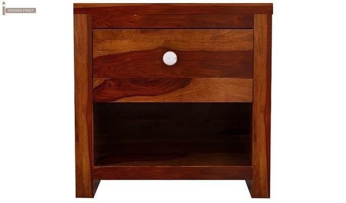 Denzel Bedside Table (Honey Finish)-4