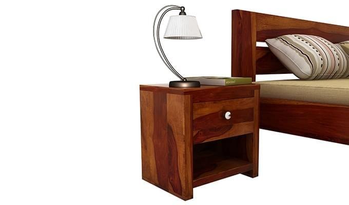 Denzel Bedside Table (Honey Finish)-1