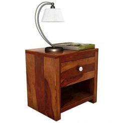 Denzel Bedside Table (Honey Finish)