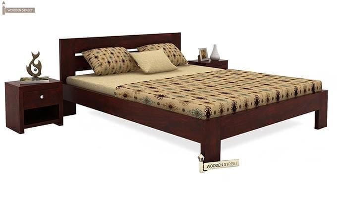 Denzel Bed without Storage (King Size, Mahogany Finish)-1