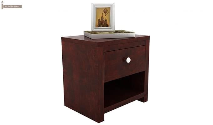 Denzel Bedside Table (Mahogany Finish)-3