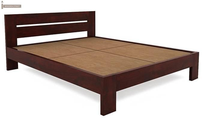 Denzel Bed without Storage (Queen Size, Mahogany Finish)-4