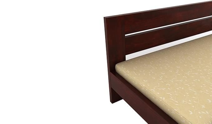 Denzel Bed without Storage (Queen Size, Mahogany Finish)-5