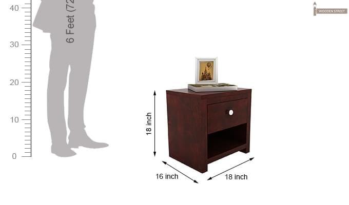 Denzel Bedside Table (Mahogany Finish)-5