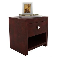 Denzel Bedside Table (Mahogany Finish)