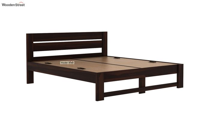 Denzel Bed without Storage (Queen Size, Walnut Finish)-6