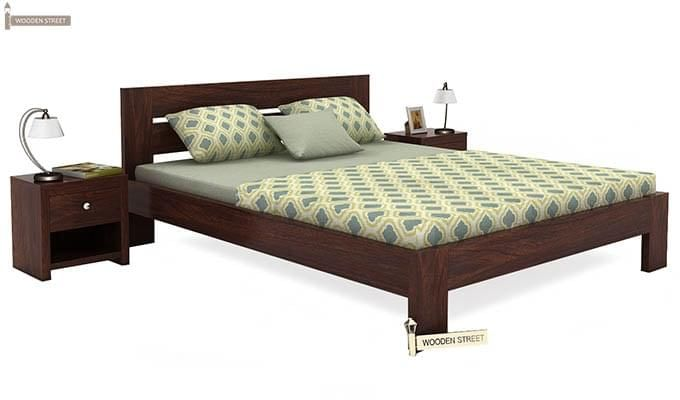 Denzel Bed without Storage (Queen Size, Walnut Finish)-2