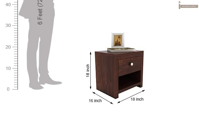 Denzel Bedside Table (Walnut Finish)-5