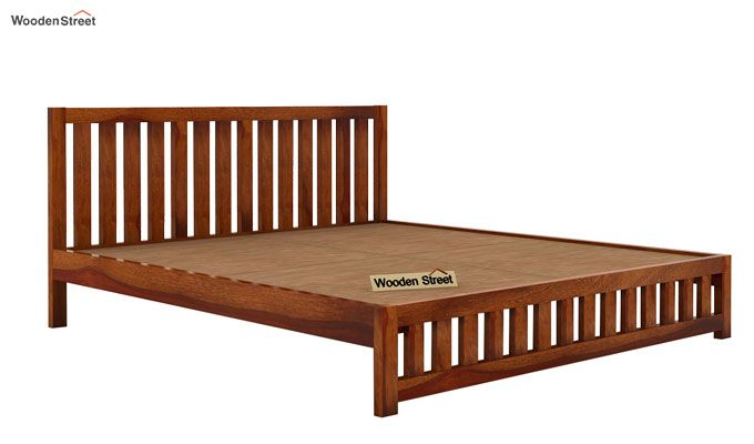 Douglas Bed Without Storage (King Size, Honey Finish)-5