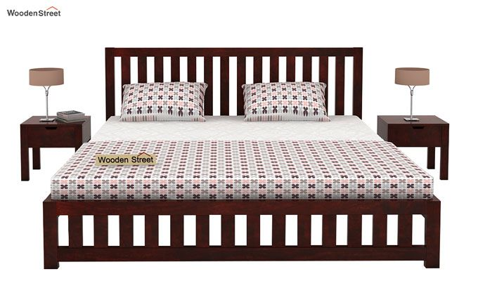 Douglas Bed Without Storage (King Size, Mahogany Finish)-2