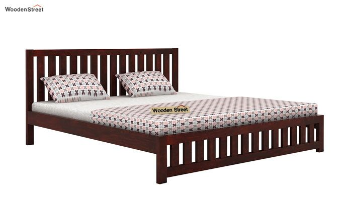 Douglas Bed Without Storage (Queen Size, Mahogany Finish)-3