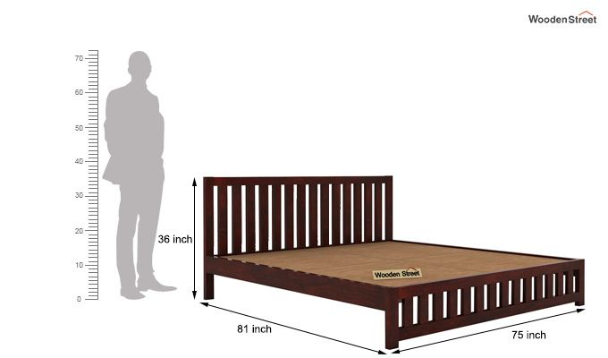 Douglas Bed Without Storage (King Size, Mahogany Finish)-5