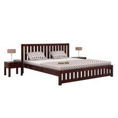 Douglas Bed Without Storage (Queen Size, Mahogany Finish)