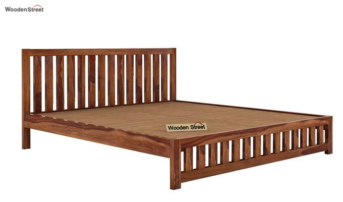 Douglas Bed Without Storage (Queen Size, Teak Finish)-4