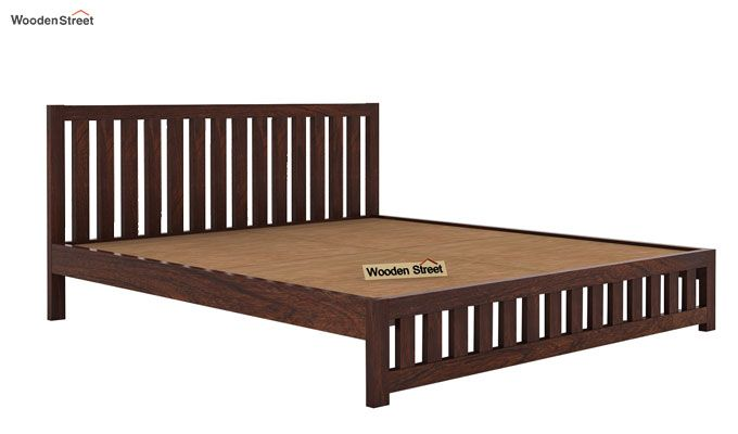 Douglas Bed Without Storage (Queen Size, Walnut Finish)-4