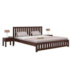 Douglas Bed Without Storage (Queen Size, Walnut Finish)