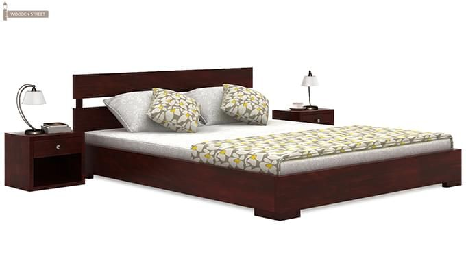 Downey Bed (Queen Size, Mahogany Finish)-1