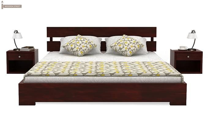 Downey Bed (Queen Size, Mahogany Finish)-2