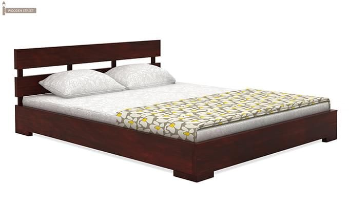 Downey Bed (Queen Size, Mahogany Finish)-3