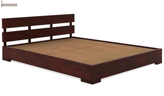 Downey Bed (Queen Size, Mahogany Finish)-4