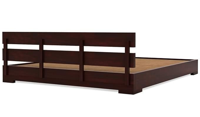 Downey Bed (Queen Size, Mahogany Finish)-7