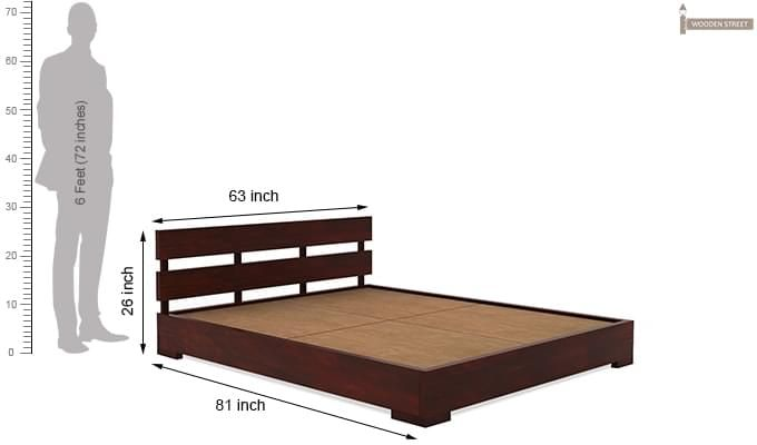 Downey Bed (Queen Size, Mahogany Finish)-9
