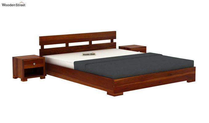 Downey Bed (King Size, Honey Finish)-2