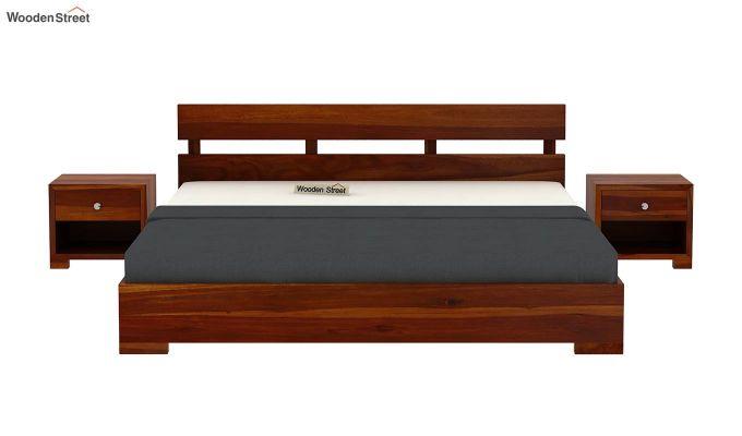 Downey Bed (King Size, Honey Finish)-3