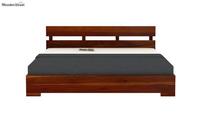 Downey Bed (King Size, Honey Finish)-5