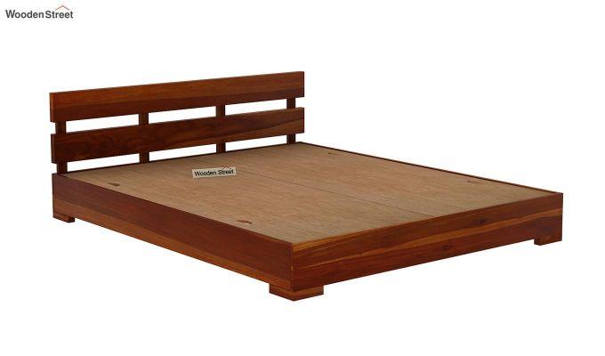 Downey Bed (King Size, Honey Finish)-6