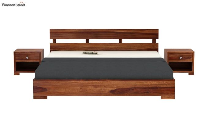 Downey Bed (Queen Size, Teak Finish)-3