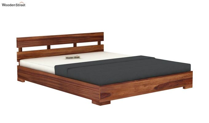 Downey Bed (King Size, Teak Finish)-4