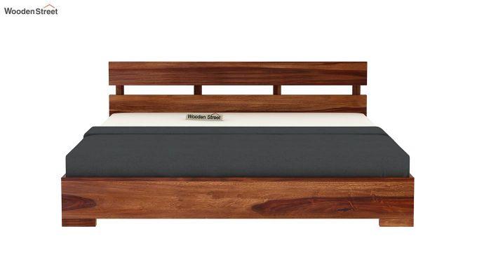 Downey Bed (King Size, Teak Finish)-5