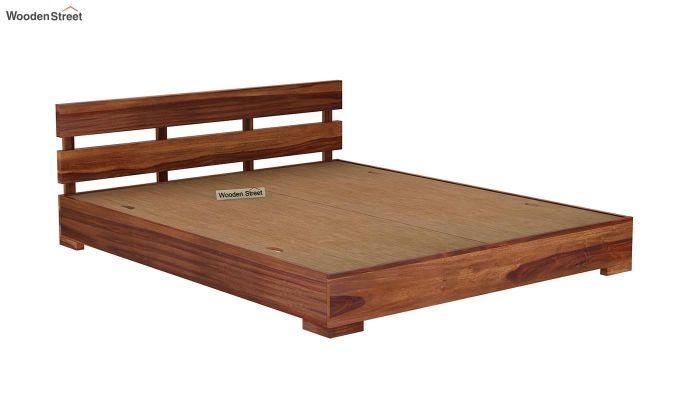 Downey Bed (King Size, Teak Finish)-6